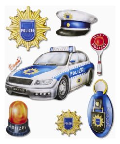 3D Sticker Polizei XXL