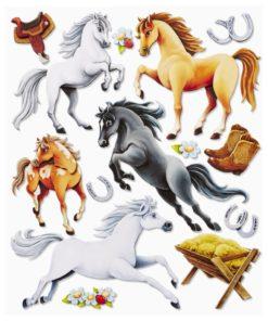 3D Sticker Pferde XXL