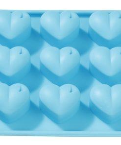 Silikon-Gießform Herzen, zum Seifengießen