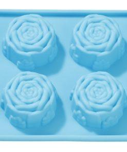 Silikon-Gießform Rosen, zum Seifengießen