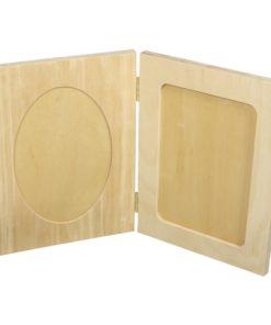 Aufklappbarer Holz-Fotorahmen, zum Gestalten