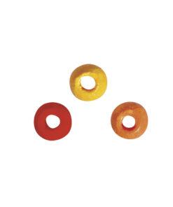 Holz Perlen Mischung gelb, orange, rot