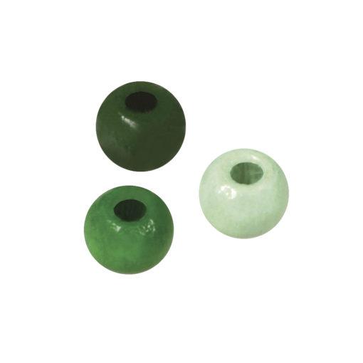 Holzperlen, poliert, 4 mm ø grüntöne