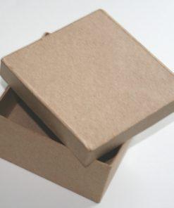 Papp-Box, 12,5x12,5x4 cm, in quadratischer Form