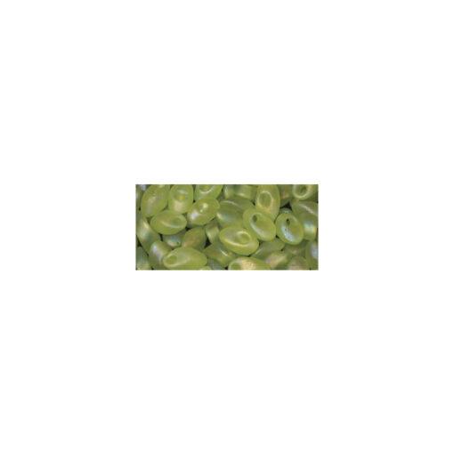 Magatama Schmuckperle in apfelgrün