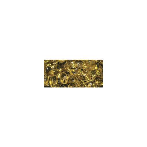 Magatama Perlen, mit Silbereinzug, goldgelb, längliche Form