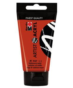 marabu artist acryl kadmiumrot mittel
