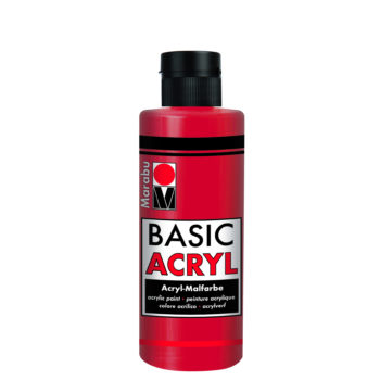 acrylfarbe basic acryl kirschrot