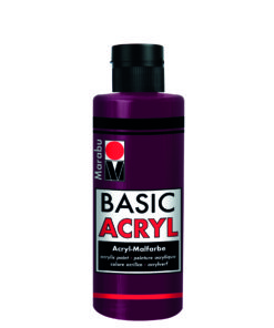 acrylfarbe basic acryl bordeaux