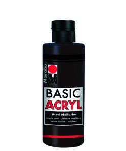 acrylfarbe basic acryl dunkelbraun
