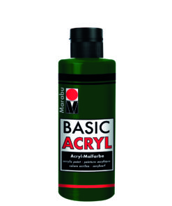 acrylfarbe basic acryl tannengrün