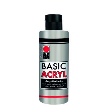 acrylfarbe basic acryl silber metallic