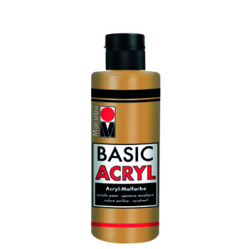 acrylfarbe basic acryl gold metallic