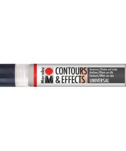 Marabu Contours & Effects, Liner, 25ml, metallic silber