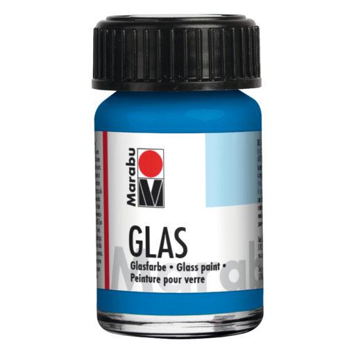 Marabu Malfarbe für Glas, 15ml Glas, Enzian