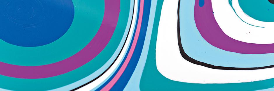 PUDDLE POUR mit Acrylfarben und Pouring Fluid