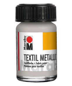 Marabu Textil metallic-silber, deckende Stoffmalfarbe