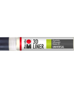Marabu 3D Liner Universal, Plusterfarbe, Nachtleuchtfarbe
