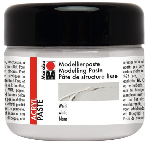 Marabu Modellierpaste, weiß, cremig, 225ml