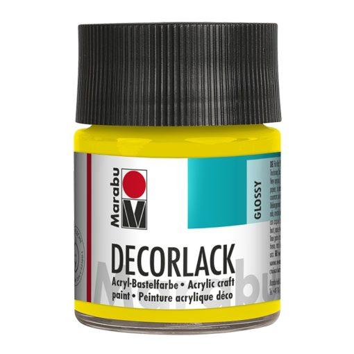Marabu Decorlack Acryl 019 Gelb 50 ml