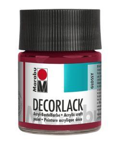 Marabu Decorlack Acryl 032 Karminrot 50 ml