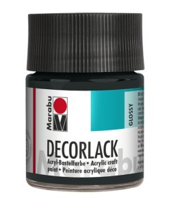 Marabu Decorlack Acryl 073 Schwarz 50 ml