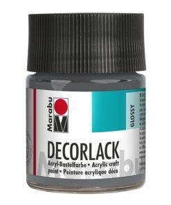 Marabu Decorlack Acryl 078 Grau 50 ml