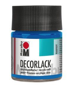 Marabu Decorlack Acryl 095 Azurblau 50 ml