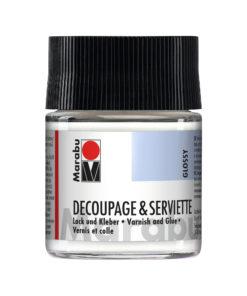 Marabu Serviettenkleber & Lack, glänzend, Glas 50 ml
