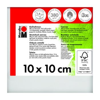 Marabu Keilrahmen 10 x 10 x 1,8 cm weiß