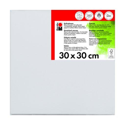 Marabu Keilrahmen 30 x 30 x 1,8 cm weiß
