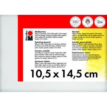 Marabu Malkarton 10,5 x 14,5 x 0,4 cm weiß