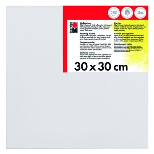 Marabu Malkarton 30 x 30 x 0,4 cm weiß