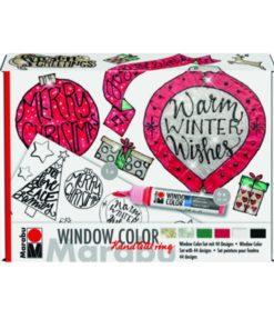 "Marabu Window Color fun & fancy ""Handlettering Xmax"" 6er-Set"