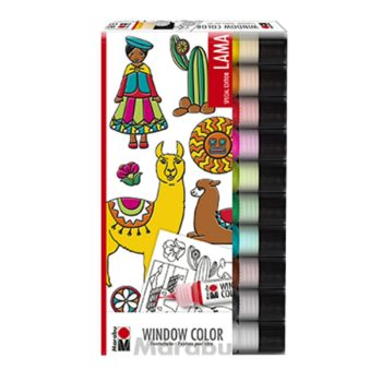 "Marabu Window Color fun & fancy ""Lama"" 10er Set"