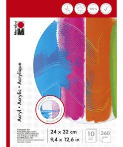 Marabu Malblock für Acrylmalerei, 24x32cm