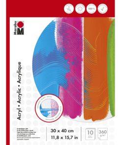 Marabu Malblock für Acrylmalerei, 30x40cm