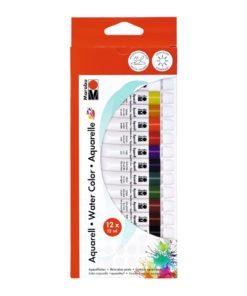Marabu Aquarellfarben im Set mit 12 Farben