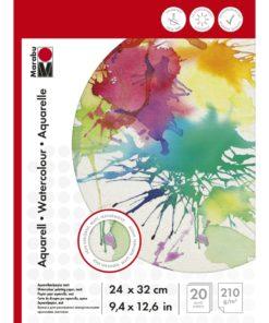 Marabu Malblock für Aquarellmalerei, 24x32cm