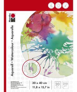 Marabu Malblock für Aquarellmalerei, 30x40cm