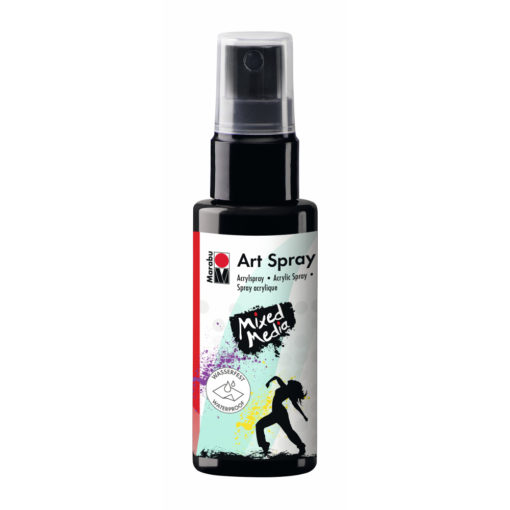 Marabu Art Spray, Acrylspray, schwarz, 50ml