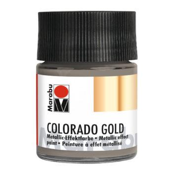 Marabu Colorado Gold, 50 ml, Metallic-Anthrazit, Metallic-Effektfarbe
