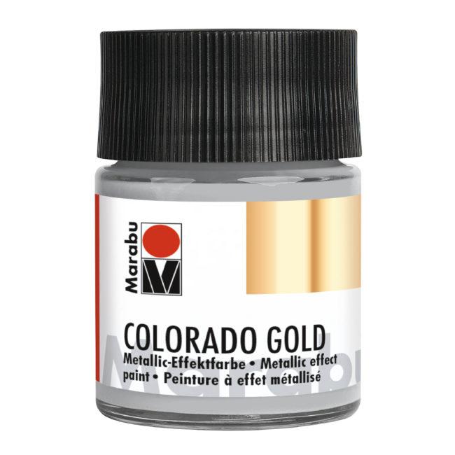Marabu Colorado Gold, 50 ml, Platin, Metallic-Effektfarbe