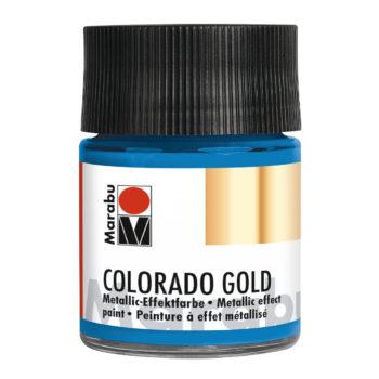 Marabu Colorado Gold, 50 ml, Metallic-Petrol, Metallic-Effektfarbe