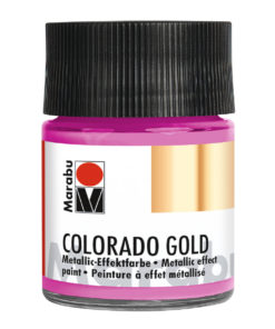 Marabu Colorado Gold, Metallic-Effektfarbe, Metallic-Rosa, 50 ml