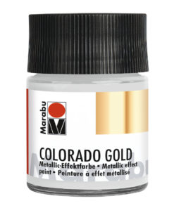 Marabu Colorado Gold, 50 ml, Metallic-Silber, Metallic-Effektfarbe
