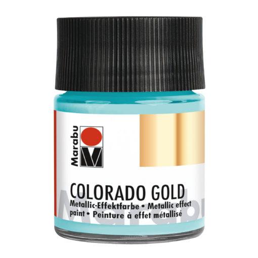 Marabu Colorado Gold, 50 ml, Metallic-Türkis Effektfarbe
