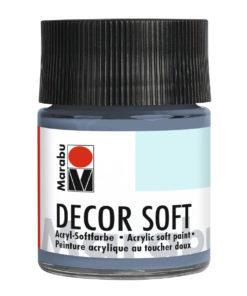 Marabu Decor Soft Acrylfarbe, Blaugrau dunkel, 50 ml