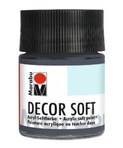 Marabu Decor Soft Acrylfarbe, Dunkelgrau, 50 ml