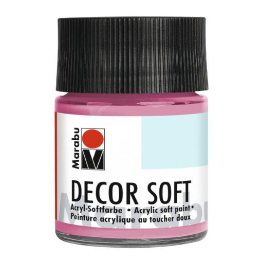 Marabu Decor Soft Acrylfarbe, Pink, 50 ml